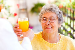Elderly home care. Find the right home care services for you stock photos