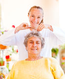 Elderly home care. Find the right home care services for your loved royalty free stock photos