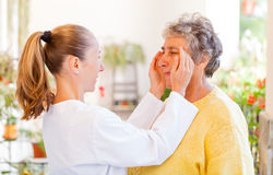 Elderly home care. Find the right home care services for your loved royalty free stock images
