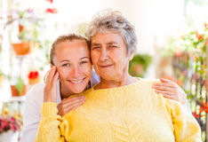 Elderly home care. Find the right home care services for your loved stock photos