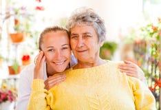 Elderly home care stock photos