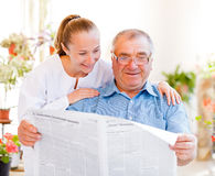Elderly home care Royalty Free Stock Photography