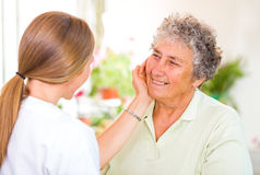 Elderly home care Stock Photography