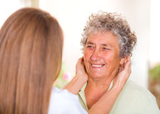 Elderly home care Royalty Free Stock Images