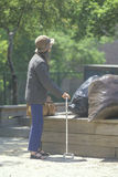 Elderly homeless woman Stock Image