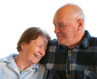Elderly husband and wife Royalty Free Stock Photos