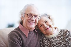 Elderly husband and wife Royalty Free Stock Images