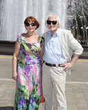 Elderly husband and wife for a walk Royalty Free Stock Images