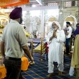 Elderly Indian man praying. Royalty Free Stock Photography
