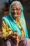 Elderly Indian woman Royalty Free Stock Image