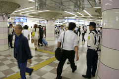 Elderly japanese at metro station Royalty Free Stock Images