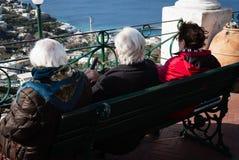 Elderly ladies, Capri, Italy. Stock Photos
