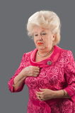 The elderly lady. Royalty Free Stock Photo