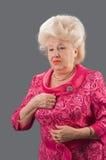 The elderly lady. Royalty Free Stock Photo