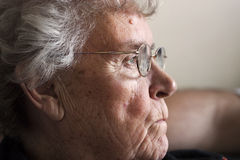 Elderly lady in 70's Royalty Free Stock Photo