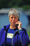 Elderly lady on cell phone royalty free stock images