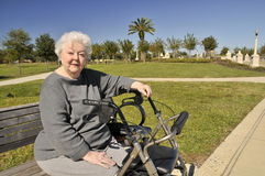 Elderly Lady At The Park Stock Image