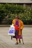 Elderly Lady shopping Royalty Free Stock Image