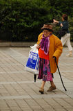 Elderly Lady shopping, Paris Royalty Free Stock Images