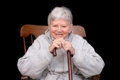 Elderly lady sitting Stock Photos