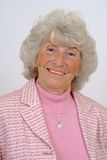 elderly lady smiling Στοκ εικόνα με δικαίωμα ελεύθερης χρήσης