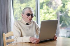 Elderly laptop Royalty Free Stock Images