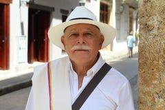 Elderly latino man looking at camera royalty free stock images