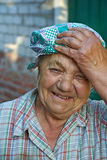 The elderly laughing woman Stock Photography
