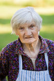 Elderly lonely woman Royalty Free Stock Images