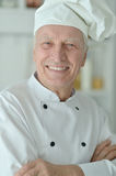 Elderly male chef Royalty Free Stock Photos