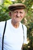 Elderly man. Elderly 80 plus year old man outdoor portrait Stock Image