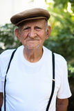 Elderly man. Elderly 80 plus year old man outdoor portrait Stock Images