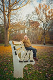 Elderly Man On Bench Royalty Free Stock Image