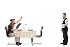 Free Elderly Man Calling A Waiter Stock Photo - 72602530