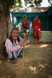 Elderly man of Chhaimale village, 29km south of Kathmandu, Nepal. Royalty Free Stock Photos