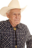 Elderly man cowboy close look side Royalty Free Stock Photography