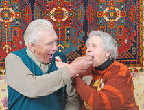 Elderly man and elderly woman Royalty Free Stock Photo