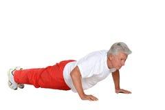 Elderly man exercising Royalty Free Stock Photos