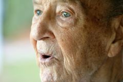 Elderly Man with Expression Stock Photo