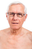 Elderly man face Stock Photos