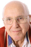 Elderly man with glasses headshot Royalty Free Stock Photo