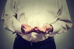 Elderly man hands Stock Image