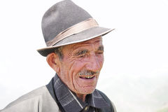 Elderly man in hat Stock Image