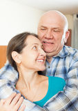 Elderly man with his girlfriend Royalty Free Stock Photo