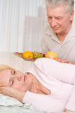 Elderly man and his wife Stock Photo