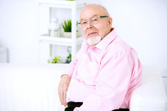 Elderly man at home Royalty Free Stock Images
