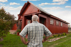 Elderly man at the house Stock Photos