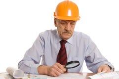 The elderly man isolated Stock Photo