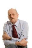 Elderly man isolated on white Royalty Free Stock Photography