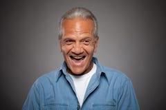 Elderly Man laughing Stock Images